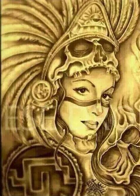 princesa azteca aztec artwork pinterest nice