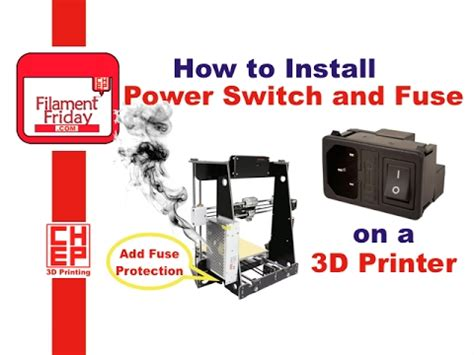 Berapa Printer 3d how to install iec ac switch fuse module on a 3d printer for fuse protected power