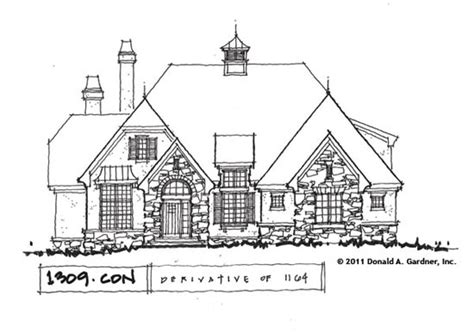 don a gardner house plan on the drawing board plan 1309 house plans