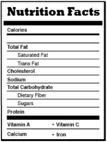 nutrition label template t581teamb2011 uxuidesign