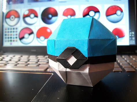 How To Make A Origami Pokeball - origami from the best generation part 1