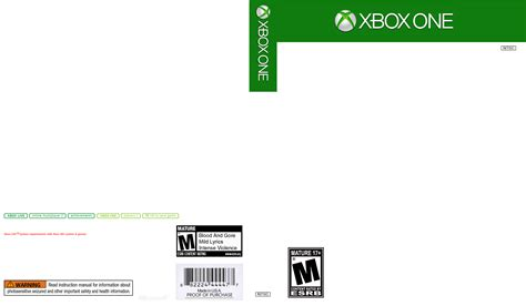 xbox one cover template fan made box cover xboxone