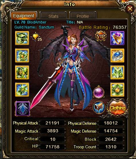 wartune legendary sylph cosmos s wartune blog blodamber with fully enchanted