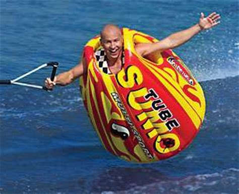 how fast to pull a tube behind a boat sumo suit towable water toy