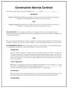 free construction contract template construction contract template free printable documents