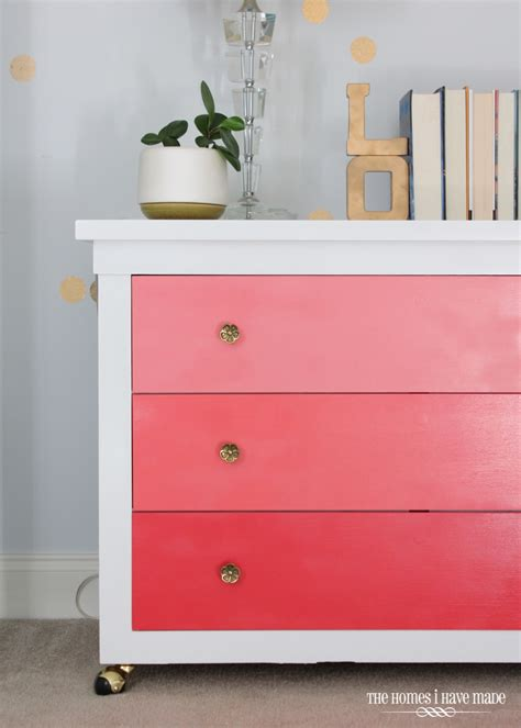 pretty in pink ombre dresser the homes i made