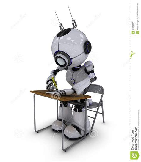 Robot Desk L by Robot At School Desk Stock Illustration Illustration Of