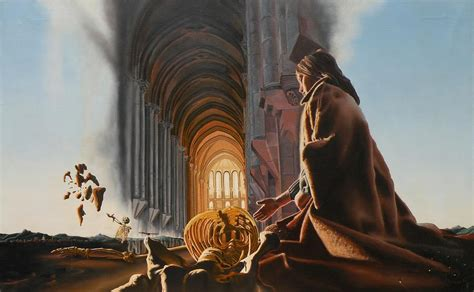 Bathroom Canvas Art by Surreal Cathedral Painting By Dave Martsolf