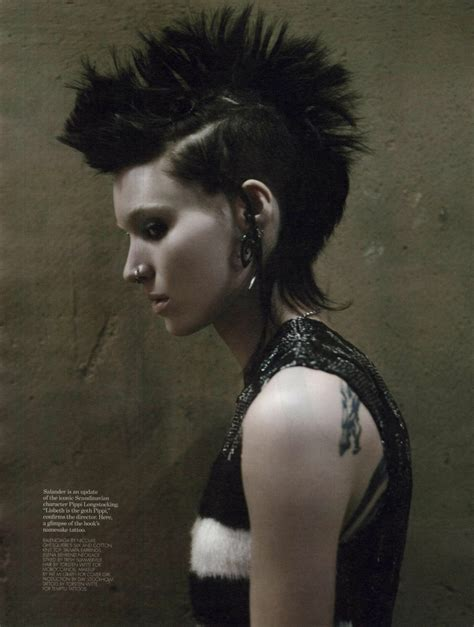 rooney mara dragon tattoo pin lisbeth salander rooney mara mohawk on