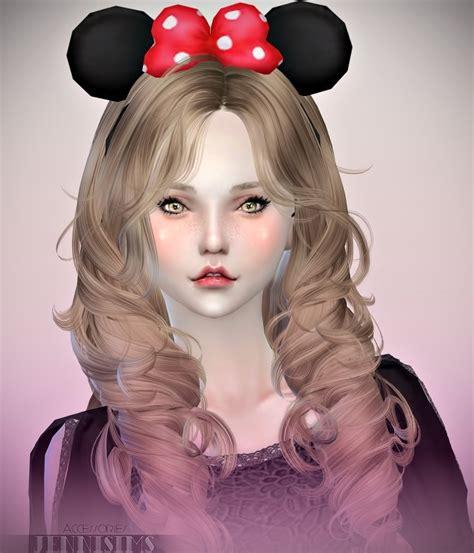 jenni sims accessory bow headband sims 4 downloads headband minnie and rabbit at jenni sims 187 sims 4 updates