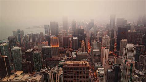 mj chicago skyview skyline city nature papersco