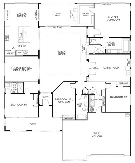 pardee homes floor plans love this layout with extra rooms single story floor