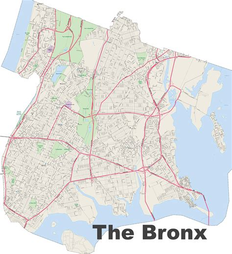 bronx map bronx map