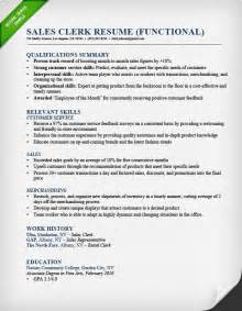 functional resume sles retail sales associate resume sle writing guide rg