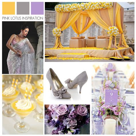 lilac and yellow wedding theme grey pink lotus events