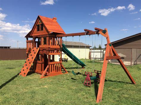 west texas swing sets backyard wooden swing sets texas madewesttexasswingsets com