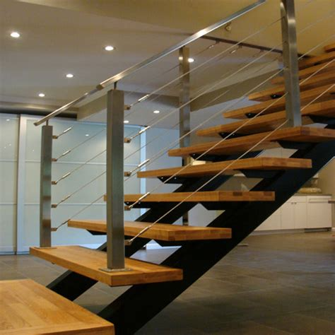Cable Stair Railing Stainless Steel Staircase Handrails Design Cable Railing