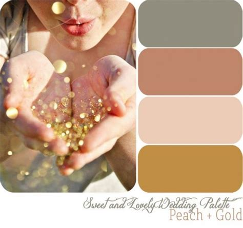 gold and gray color scheme fall color palate dusty rose grey gold blush fall