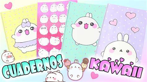 decorar cuadernos diy diy decorar cuadernos kawaii de molang regreso a clases