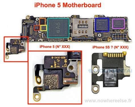 iphone 5s motherboard diagram iphone 5s photos of leaked parts point to upgraded
