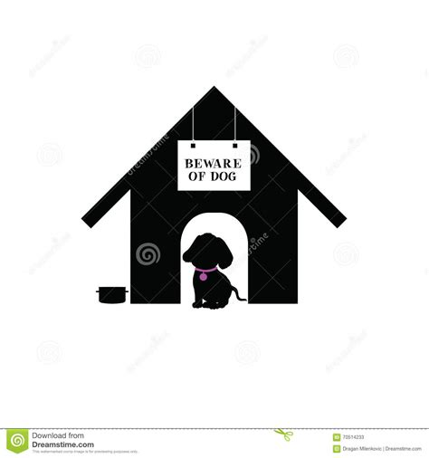dog house silhouette dog in house silhouette illustration stock vector image 70514233