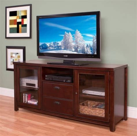 65 quot wood flat screen tv stand media console entertainment
