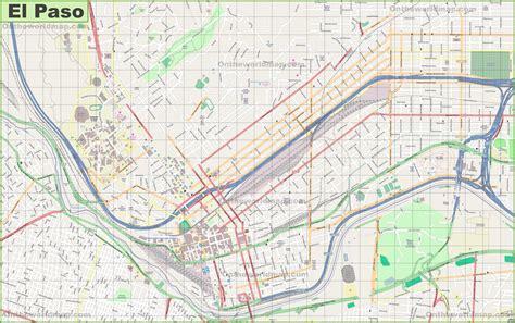 el paso map large detailed map of el paso