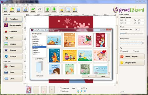 what software has a greeting card template greeting card software ecard wizard
