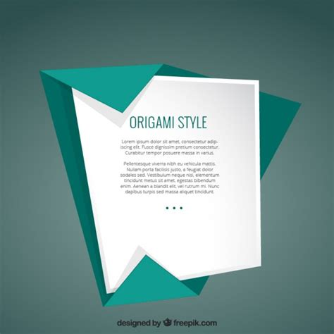 Origami Style - template in origami style vector premium