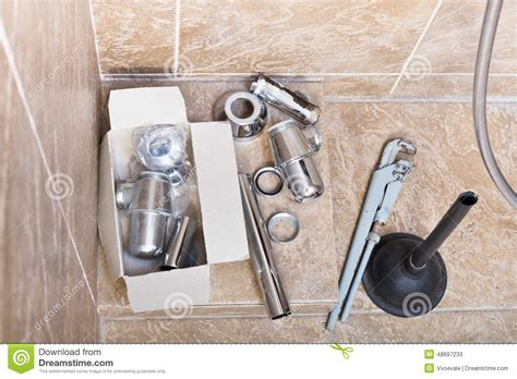 replace bathroom sink trap replacing of corroded sink trap stock photo image 48697233
