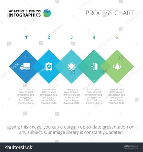 Editable Infographic Template Process Chart Blue Stock Vector 323551247 Shutterstock Editable Infographic Templates