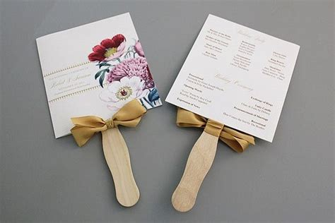 how to make wedding program fans how to make wedding program fans diy projects craft ideas