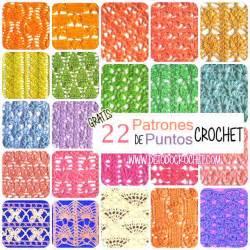 22 patrones de puntos crochet calados gratis todo crochet