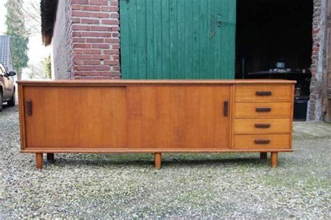 sixties meubelen retro dressoir vintage design sixties kast tv meubel