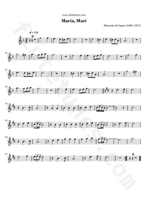 mar 236 e di capua free flute sheet