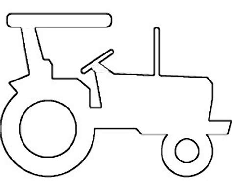 detailed tractor clipart outline clipground