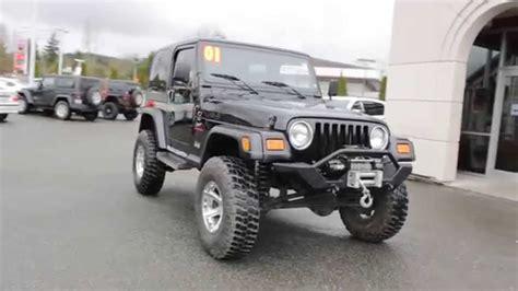 2001 jeep sport lifted 2001 jeep wrangler sport custom lifted black 1p320646