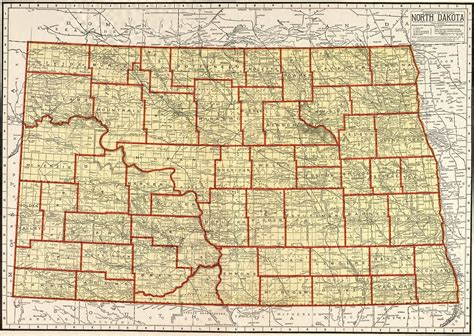 nd map dakota map free large images
