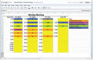 using a simple spreadsheet to improve intra office