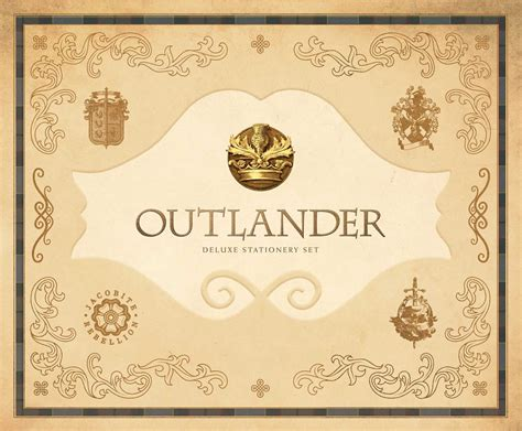 outlander deluxe stationery set book by insight editions
