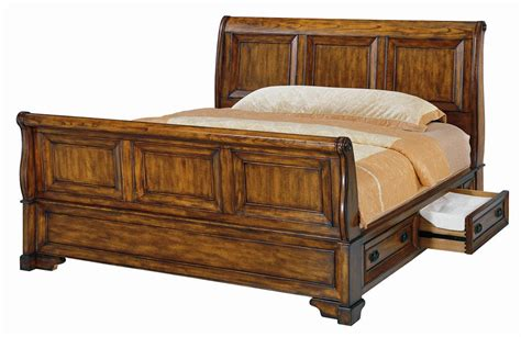 Sleigh Bed With Storage by Size Sleigh Bed With Cedar Lined Storage Drawers By