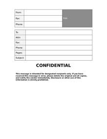 Cover Letter Confidential by Doc 585700 Confidential Fax Cover Sheets Confidential