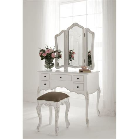 bedroom vanity chair teenage white wooden make up table and white leather