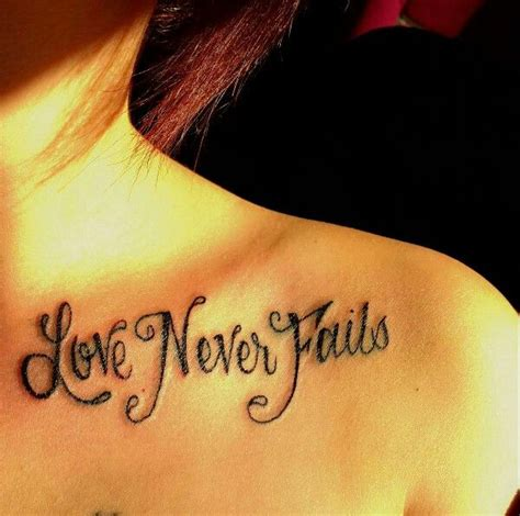 tattoo love is patient my shoulder tattoo love never fails love is