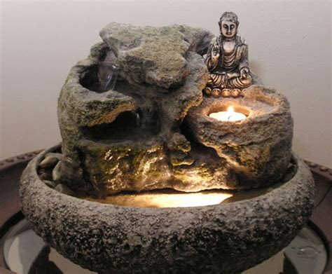 decorative tabletop buddha water fountain great home decor