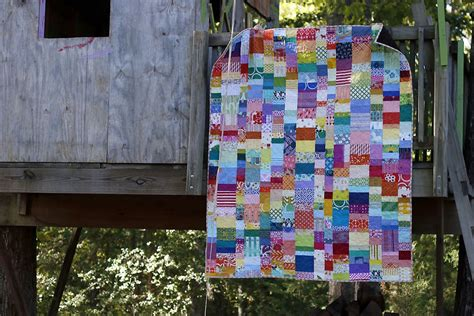 Stitched Patchwork Quilt - rainbow falls patchwork quilt stitched in color