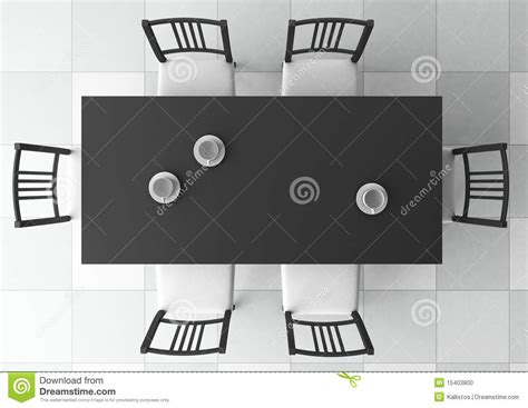 Kitchen Island Seats 4 3d dining table stock photo image 15403800