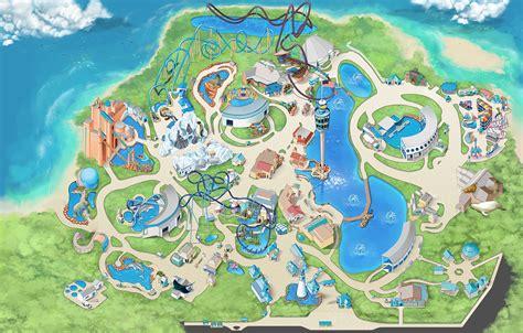 seaworld orlando map seaworld map my