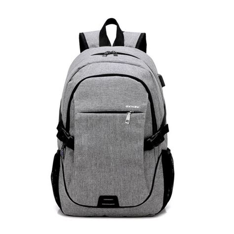 Mairu 0219 Smart Backpack Usb Port Charger Free Powerbank Grey ctsmart yz531 waterproof anti theft backpack with usb charging port for outdoor cycling