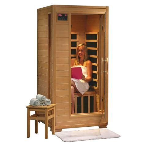 infrared sauna buena vista 1 person heatwave infrared sauna w carbon